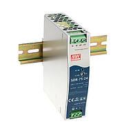 Блок питания Mean Well SDR-75-48 В корпусе с ККМ 76,8 Вт, 48 В, 1,6 А (DC/AC Преобразователь)