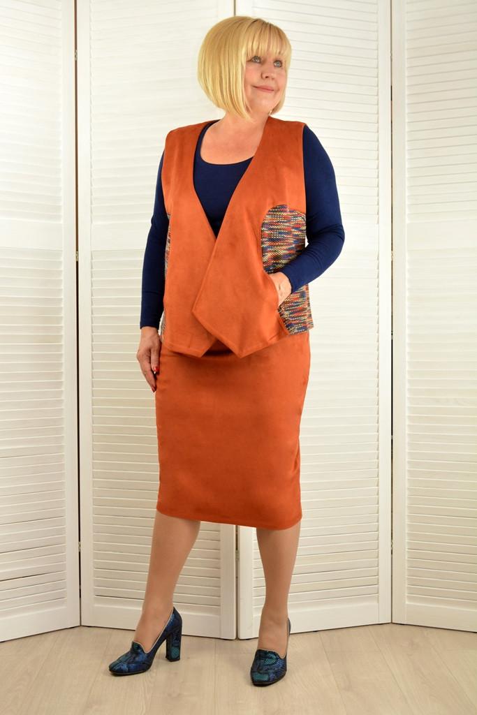 Костюм: Жилет и юбка - Модель Л622-1
