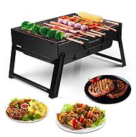 Складной BBQ гриль Mensory Grill Portable, 35 см длина, черный