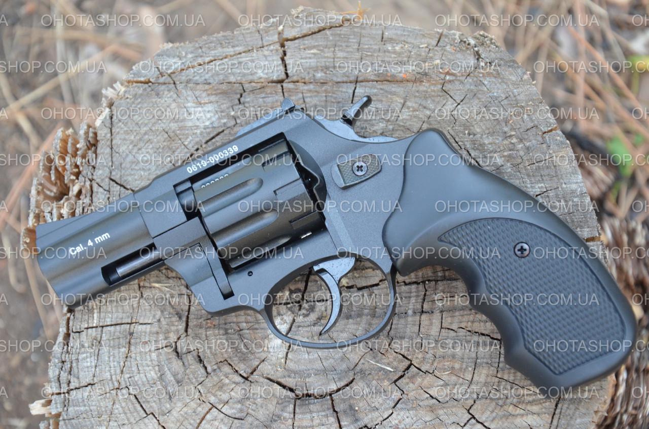 Револьвер под патрон Флобера Stalker 2,5 (черный/чер.ручка)