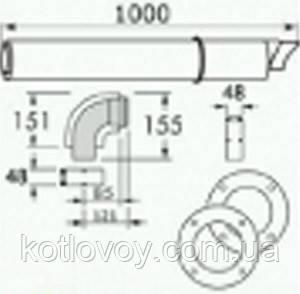 Комплект горизонтального прохода PROTHERM 1000 мм (60/100 мм) турбо 20199380 , фото 2