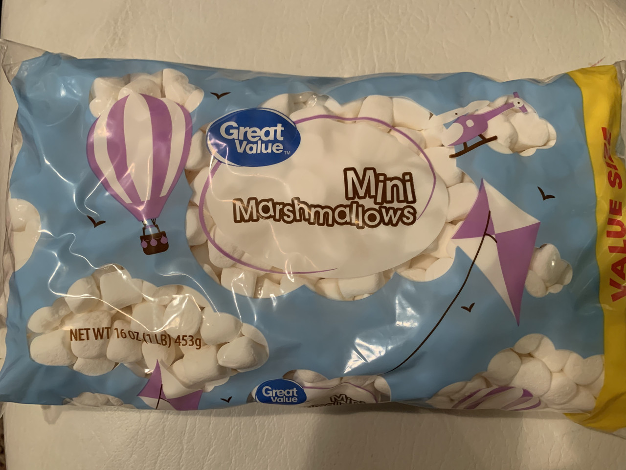 Маршмэллоу маленькие белые кубики Marshmallow, 453грамм