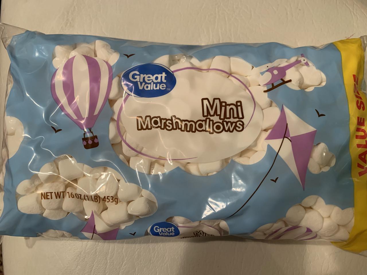 Маршмэллоу Marshmallow конфеты маленькие белые кубики, 453грамм