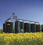 Металлические силосы для зерна с плоским и конусным дном, Германия