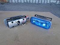 Противотуманные фары на 3 лампы №2203 (синее стекло)