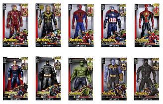 """Герої Marvel, """"Месники 2"""" 9916 (70шт/2), звук, світ., Марвел, 30 см, в кор."""