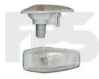 Указатель поворота на крыле Kia Sportage '04-10 левый/правый, белый (DEPO)