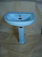 Раковина с пьедесталом Monaco VI3N (голубой) Уценка