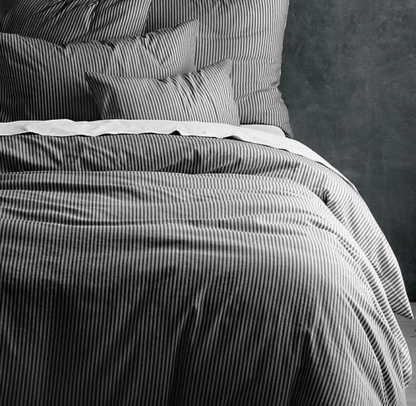 Комплект постельного белья Time Textile Black stripe Евро