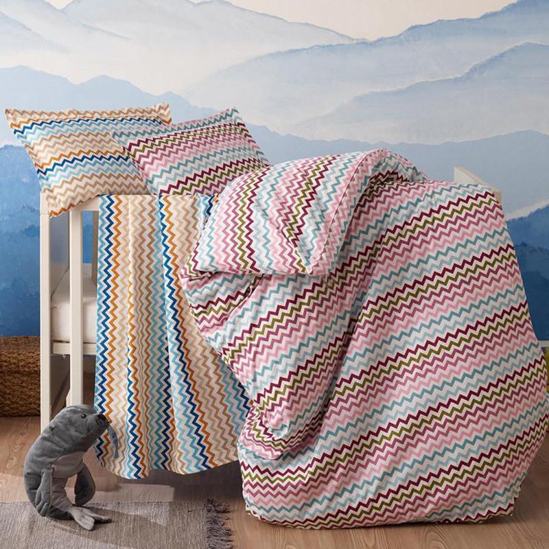 Комплект постельного белья Time Textile Rainbow zigzag Евро