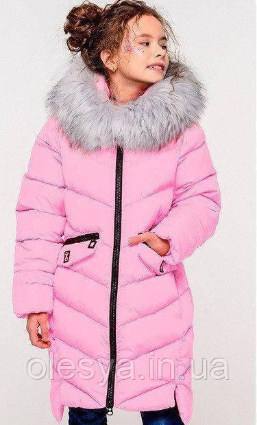 Пальто детское зимнее на девочку Афина 4 тм Nui Very Размеры 116- 158