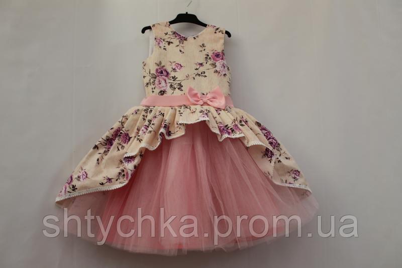 Нарядное платье на девочку с розовым фатином № 31