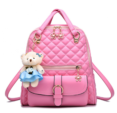 Рюкзак-сумка стеганый розовый