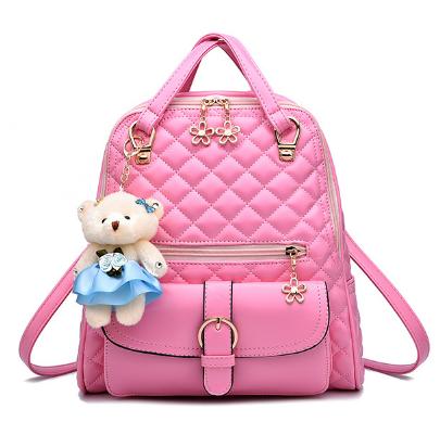 Рюкзак-сумка стьобаний рожевий