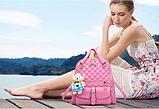 Рюкзак-сумка стеганый розовый, фото 2