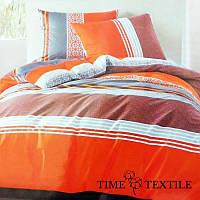Комплект постельного белья из сатина Orange Fresh, фото 1