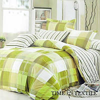 Комплект постельного белья из сатина Green Check, фото 1
