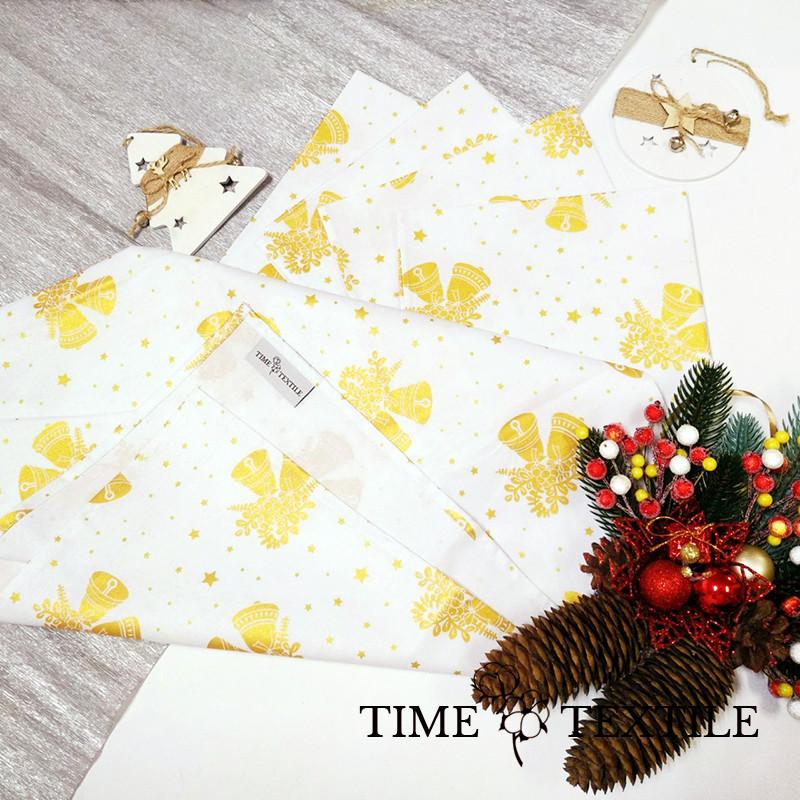 Дорожка на стол (раннер) Time Textile Bells Gold White 40х160 см
