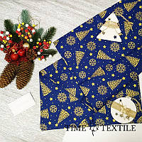 Дорожка на стол (раннер) Time Textile Christmas Tree Gold Blue 40х160 см