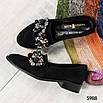 Шикарные женские туфли  лоферы с декором, фото 7