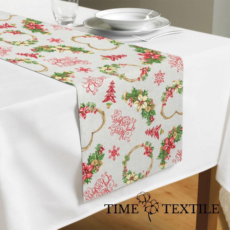 Дорожка на стол (раннер) Time Textile Christmas Hearts