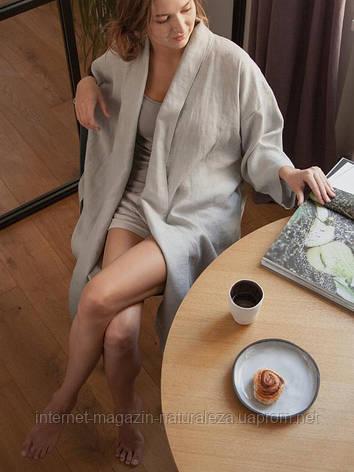 Жіночий халат льняної, фото 2
