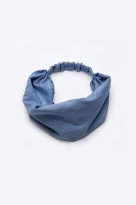 Повязка-косынка для девочек (хлопок деним)