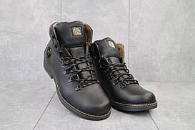 Мужские ботинки кожаные зимние черные Shark B150