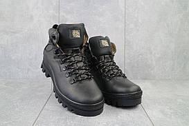 Мужские ботинки кожаные зимние черные Shark B157