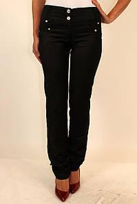 Женские черные брюки прямые ( спандекс ) 42-48 р
