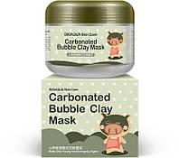 Маска для лица кислородная пузырьковая очищающая и отшелушивающая BIOAQUA Skin Care Carbonated Bubble Clay Mask (100мл)