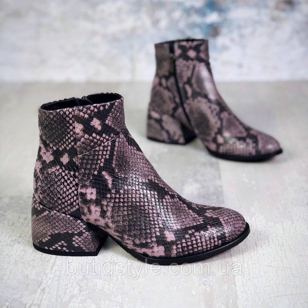 Женские ботинки питон натуральная кожа Деми