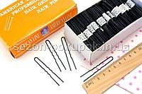 (50шт) Шпильки для волос ∼6см, Цена за 50шт Цвет - Чёрный (сп7нг-1537)