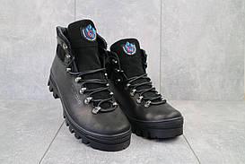 Мужские ботинки кожаные зимние черные Cardio 172