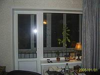 Балконный блок Rehau Euro 60 (выход на балкон) с двухкамерным стеклопакетом
