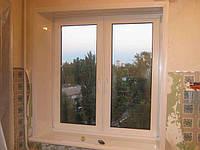 Металлопластиковое окно со штульповым открыванием Rehau Euro 60 в Киеве, фото 1