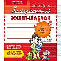 Тетрадь - шаблон А5+ Школа (В. Федиенко) Каллиграфический (укр) 292730