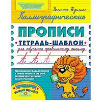 Тетрадь - шаблон А5 Школа (В. Федиенко) Каллиграфические прописи (рус) 295595
