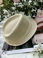 "Женская шляпа челентанка ""Берта"" бежевый"