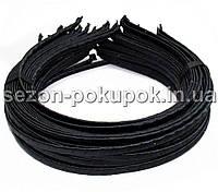 Обруч для волос обмотанный атласной лентой  (6мм металлический).Цена за 50 шт. Цвет - черный