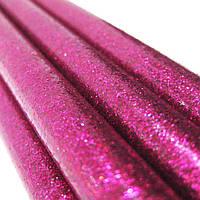Клеевой стержень, 11мм, 19см  цветной с глитером 1шт 120*_Розовый