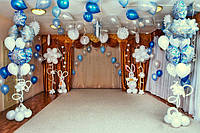 Новогоднее оформление зала.