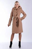 Пальто демисезонное женское с капюшоном бежевое. Размеры: 42-56. Цвета: разные