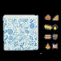 """34 Уголок """"Сладкое ассорти"""" для сладких изделий жиростойкий 160х170мм (ВхШ) 60г/м² (1уп/500шт)"""