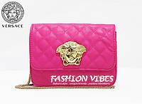 Женская сумка Versace розовая