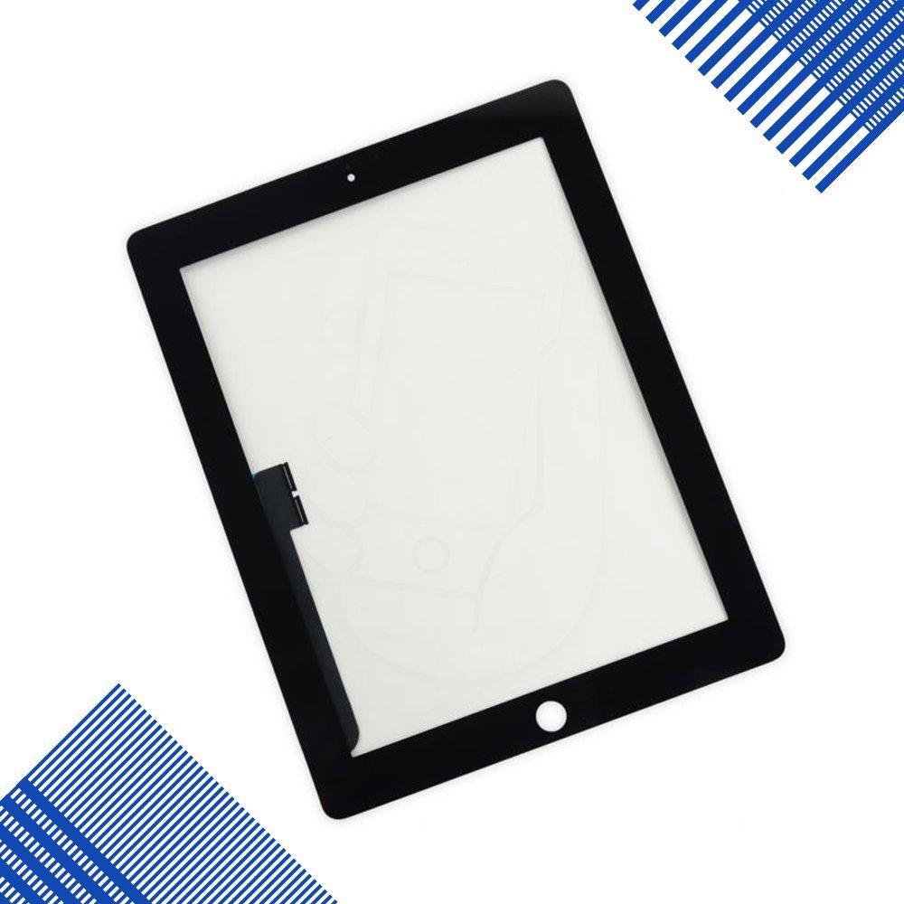 Тачскрин (сенсор) со стеклом для iPad New 3, iPad 4, цвет черный