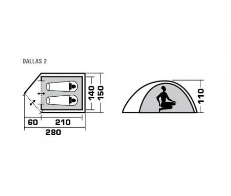 Кемпинговая палатка Trek Planet ( 70101 ) Dallas 2 2018