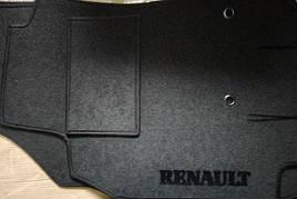 Коврики в салон ворсовые на резиновой основе RENAULT Trafic ll 2001-2014 (1+2)