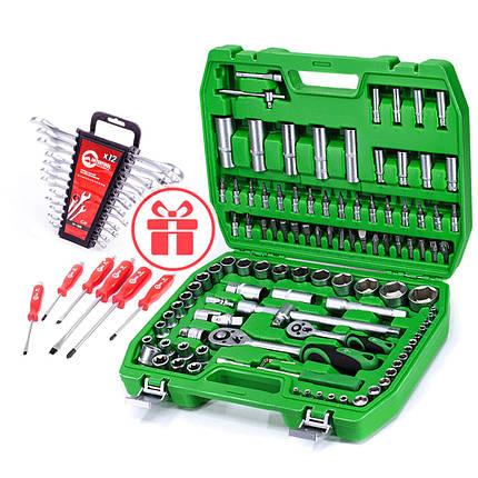 Набор инструментов 108 ед., набор ключей 12 ед. и набор ударных отверток 6 ед. INTERTOOL ET-6108SP-HT-1203-HT-0403, фото 2