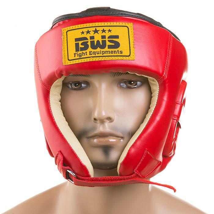 Шлем защитный BWS со шнуровкой, красный